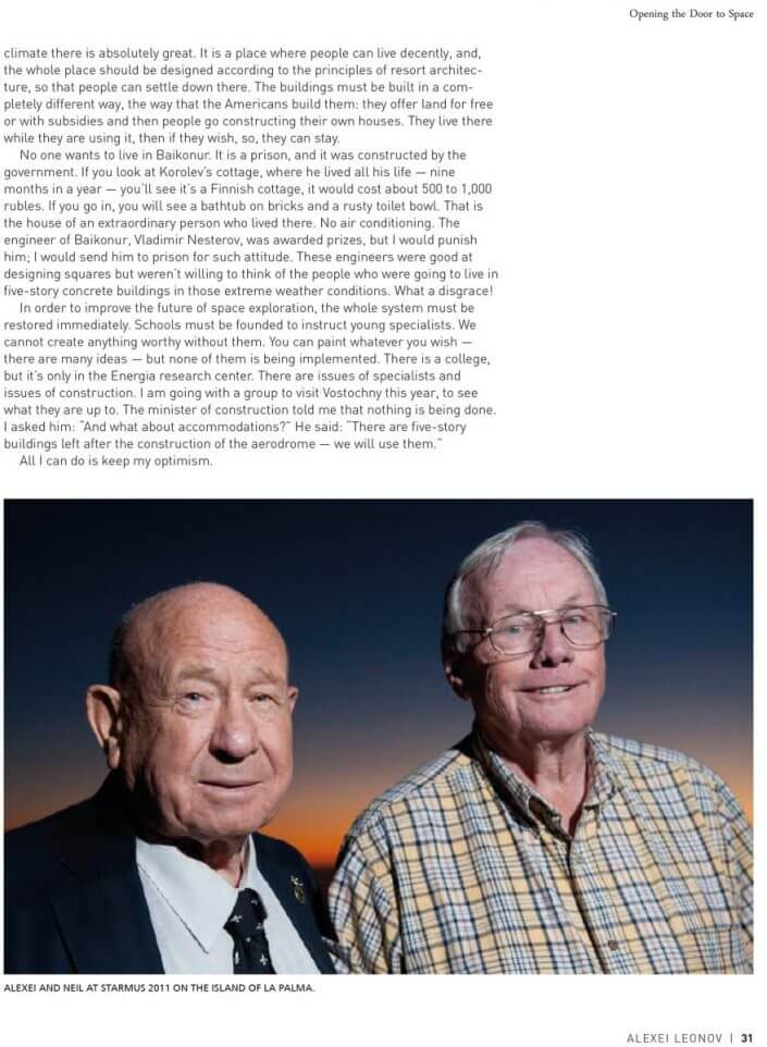 Starmus – 50 Years of Man in Space; Alexei Leonov and Neil Armstrong