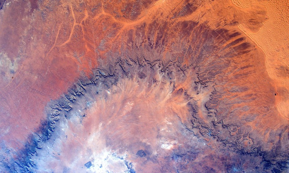 Tim Peakes Africa photo from Space